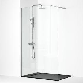 Paroi de douche fixe avec profilé chromé, 80 à 110 cm, Walk In
