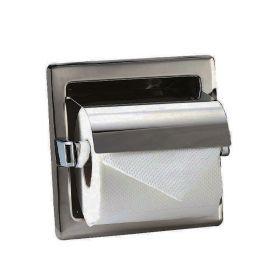 Distributeur de papier encastrable, Inox mat