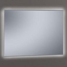 Miroir lumineux LED salle de bain biseauté, 100x80 cm, Khan