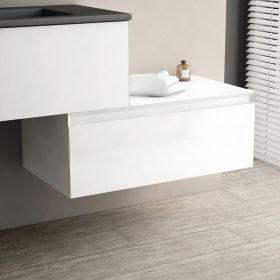Meuble de rangement 80 cm x 45 cm, blanc brillant, Aragon