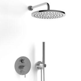 Composition mitigeur de douche encastrée chromé, Châtelet
