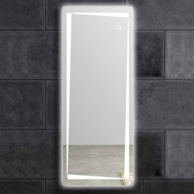 Miroir lumineux LED en pied, 50x150 cm, Dress