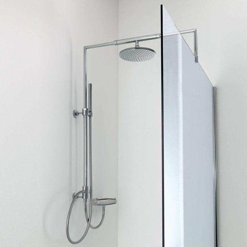 Paroi de douche fixe kybos 140 cm colonne de douche - Paroi de douche fixe 140 ...