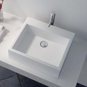 Vasque minéral à poser 43x38 cm