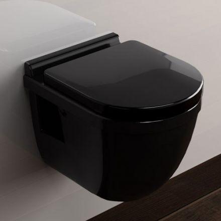wc suspendu compact noir. Black Bedroom Furniture Sets. Home Design Ideas