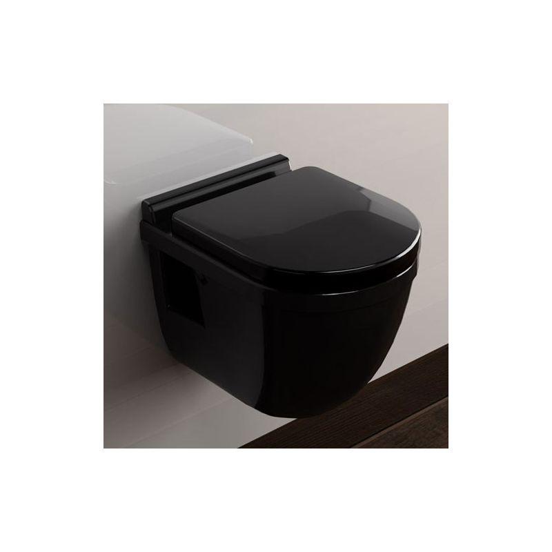 Wc noire meilleures images d 39 inspiration pour votre - Wc suspendu compact ...