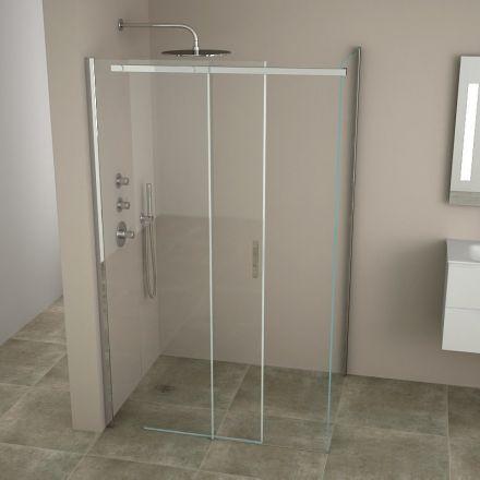 cabine de douche coulissante minima 120 140 cm. Black Bedroom Furniture Sets. Home Design Ideas