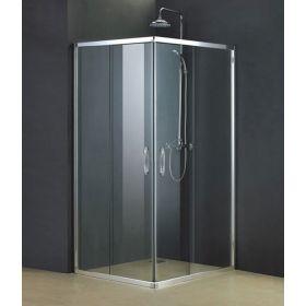 Cabine de douche coulissante Less, 100x100 cm