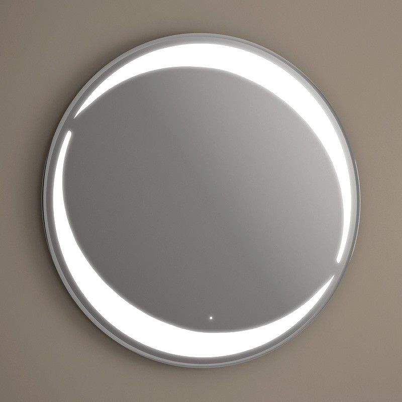 miroir lumineux led salle de bain rond antibu e 80 cm. Black Bedroom Furniture Sets. Home Design Ideas