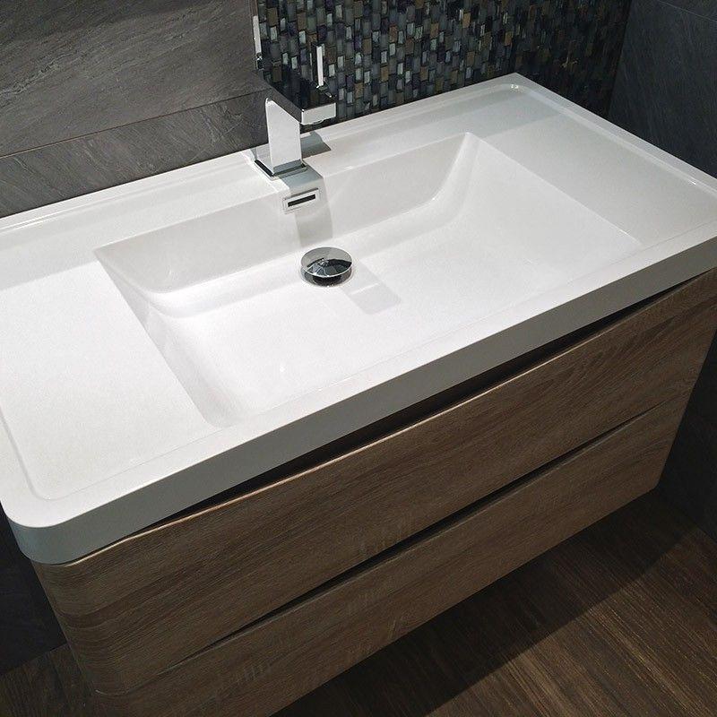Meuble salle de bain 90 cm ch ne 2 tiroirs plan ma salle for Plan meuble salle de bain