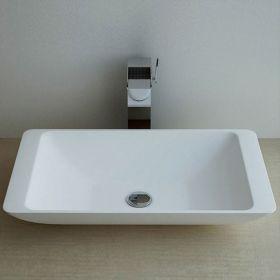 Vasque à poser en résine rectangulaire 59x34 cm, Minéral