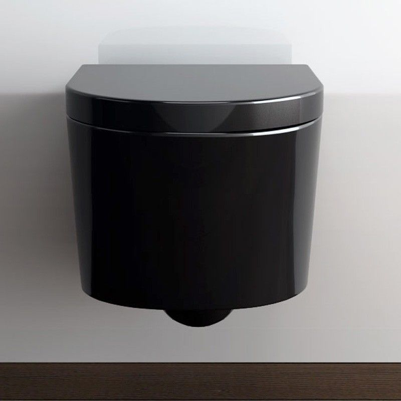wc suspendu orba noir avec abattant. Black Bedroom Furniture Sets. Home Design Ideas