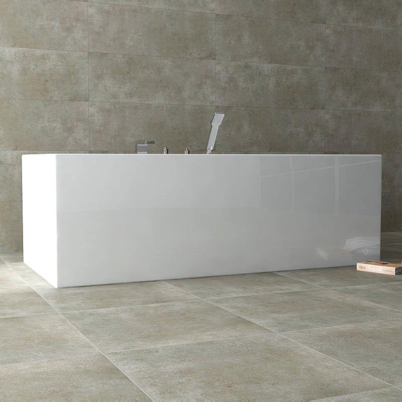 Baignoire ilot rectangulaire 180x85 cm acrylique dokos for Baignoire resine ou acrylique
