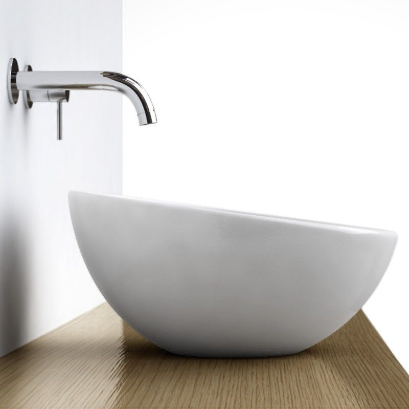 vasque poser ronde bol 42 cm c ramique pure. Black Bedroom Furniture Sets. Home Design Ideas