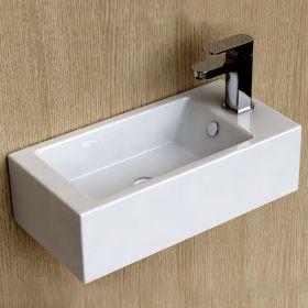 Lave-mains gain de place 50x25 cm, céramique, Pure