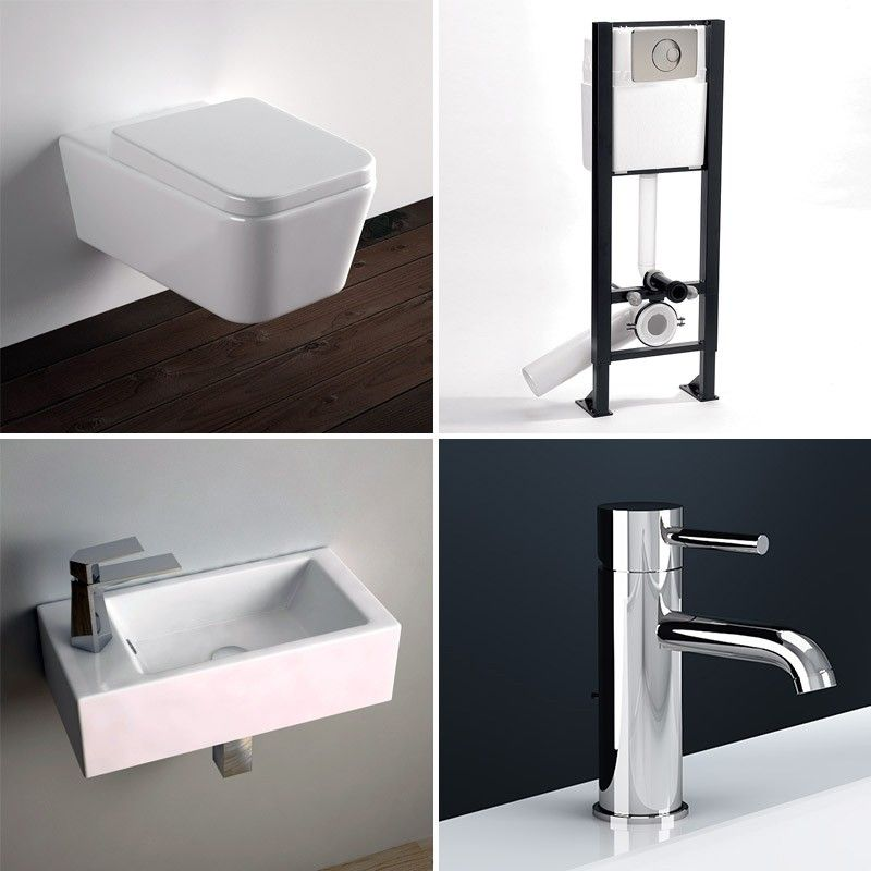 pack wc suspendu tozza et lave mains pure 50x25 cm. Black Bedroom Furniture Sets. Home Design Ideas