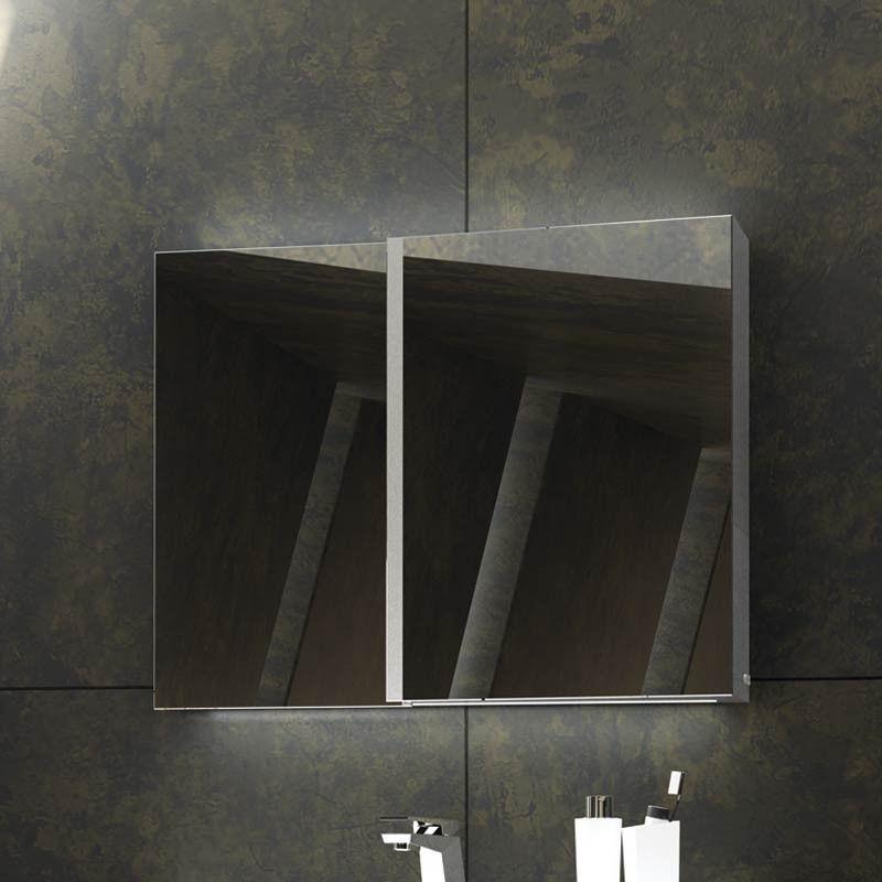 Armoire de toilette fractal 910 mm for Armoire de toilette pour salle de bain