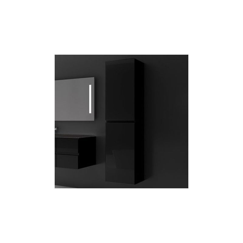 colonne de rangement glass noir. Black Bedroom Furniture Sets. Home Design Ideas
