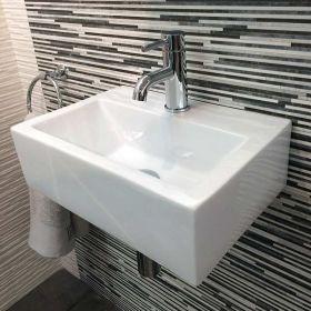 Lave main gain de place 43x30 cm, céramique, Pure