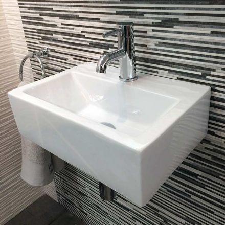 Lave main gain de place 43x30 cm en c ramique pure - Machine a laver gain de place ...