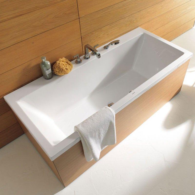 Baignoire rectangulaire 170 190 cm acrylique duravit vero for Baignoire rectangulaire encastrable