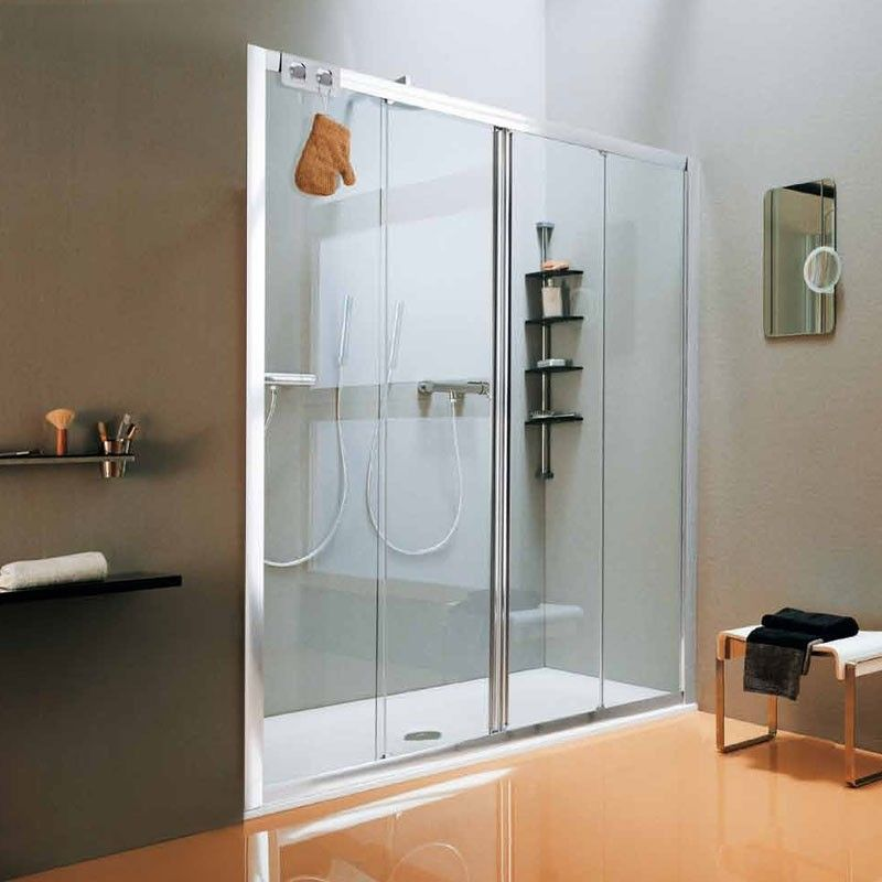 porte de douche coulissante new cee 140 175 cm. Black Bedroom Furniture Sets. Home Design Ideas