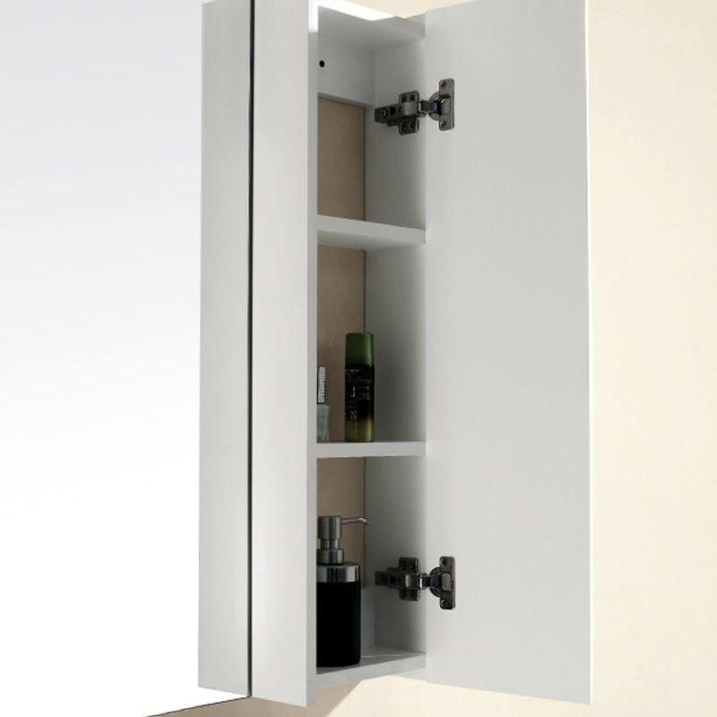 Miroir et armoire de rangement sorrio for Miroir salle de bain rangement