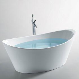 Baignoire rectangulaire 150x70 cm acrylique olu - Petite baignoire ilot ...