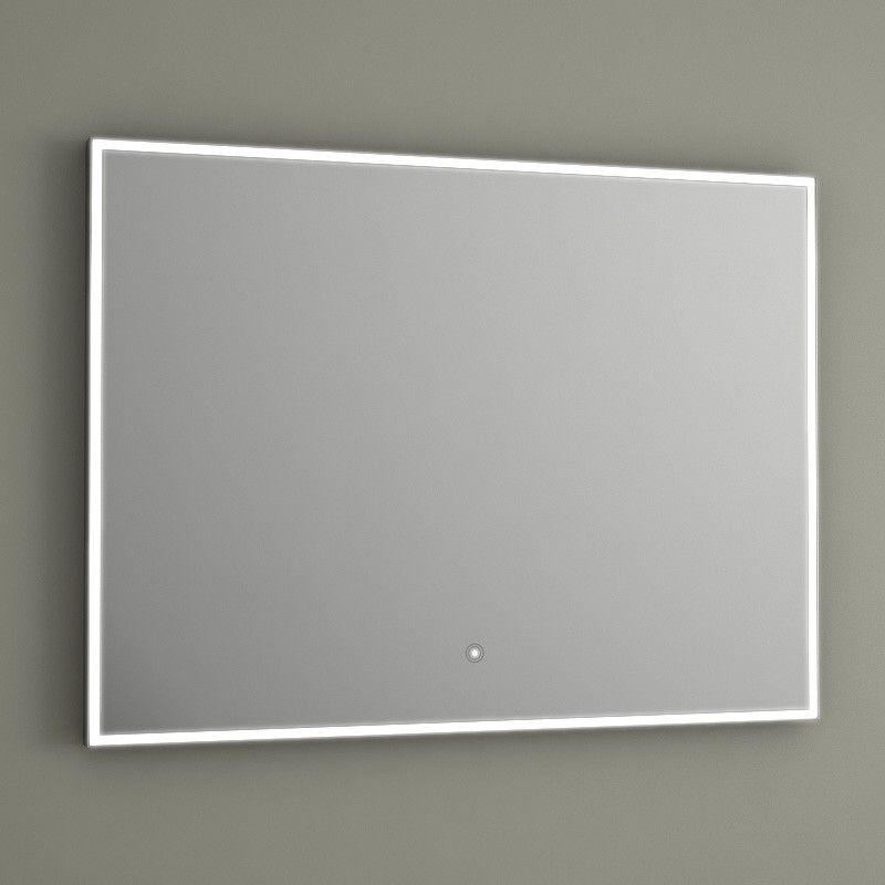 Miroir Lumineux Led Salle De Bain Anti Bu E 80x60 Cm