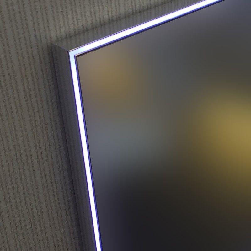 Miroir lumineux led salle de bain anti bu e 80x60 cm for Miroir salle de bain 150