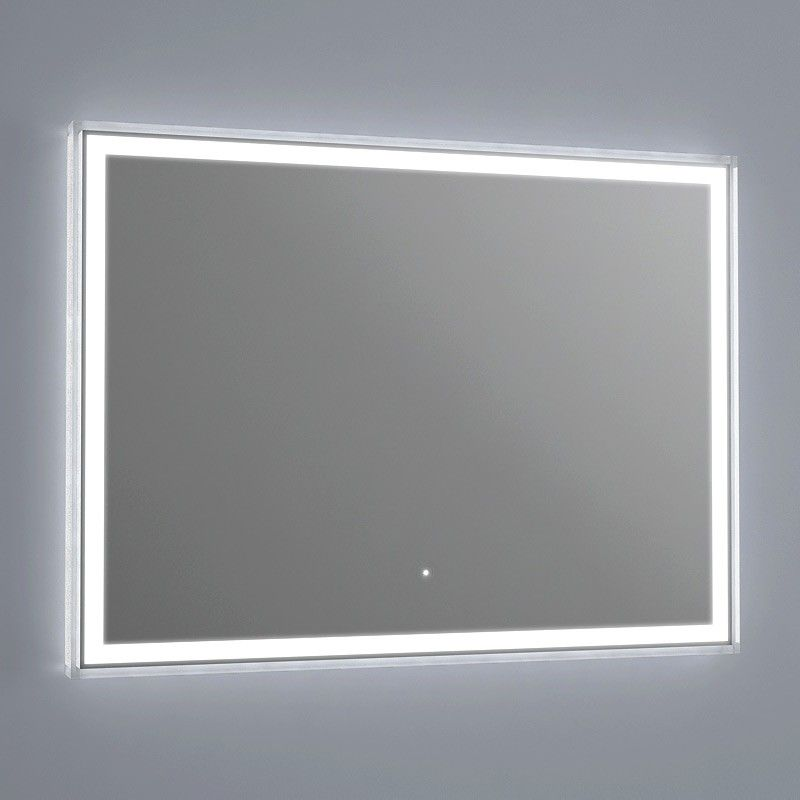 Miroir lumineux led salle de bain anti bu e 80x60 cm for Miroir salle de bain anti buee