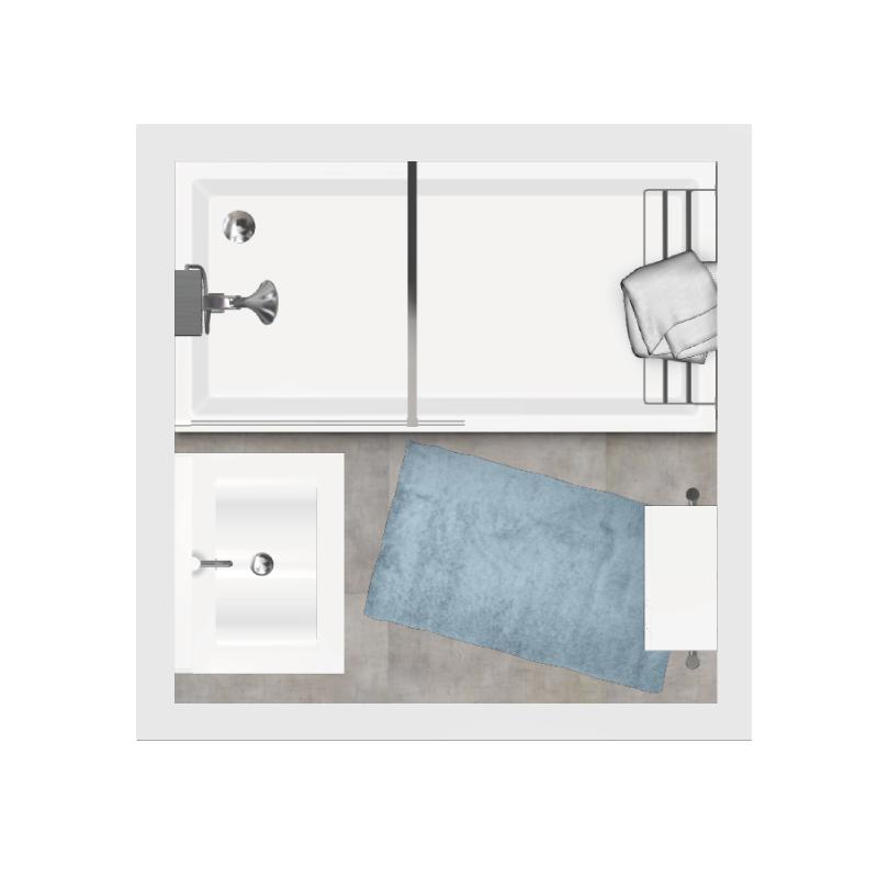 Salle de bain bathbox douche meuble 2 25 m2 for Meuble de douche