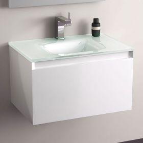 Meuble salle de bain glass - Meuble salle de bain en 60 cm ...