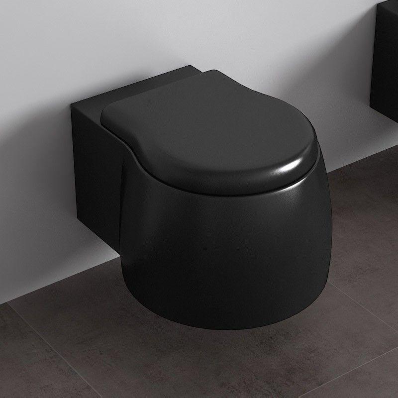 wc suspendu dunia noir satin. Black Bedroom Furniture Sets. Home Design Ideas