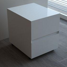 cube de rangement flex blanc brillant 40x45x20cm. Black Bedroom Furniture Sets. Home Design Ideas
