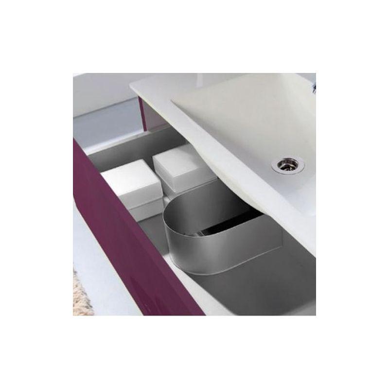 Meuble salle de bain 100 cm plan vasque verre 2 tiroirs for Meuble salle de bain 100 cm