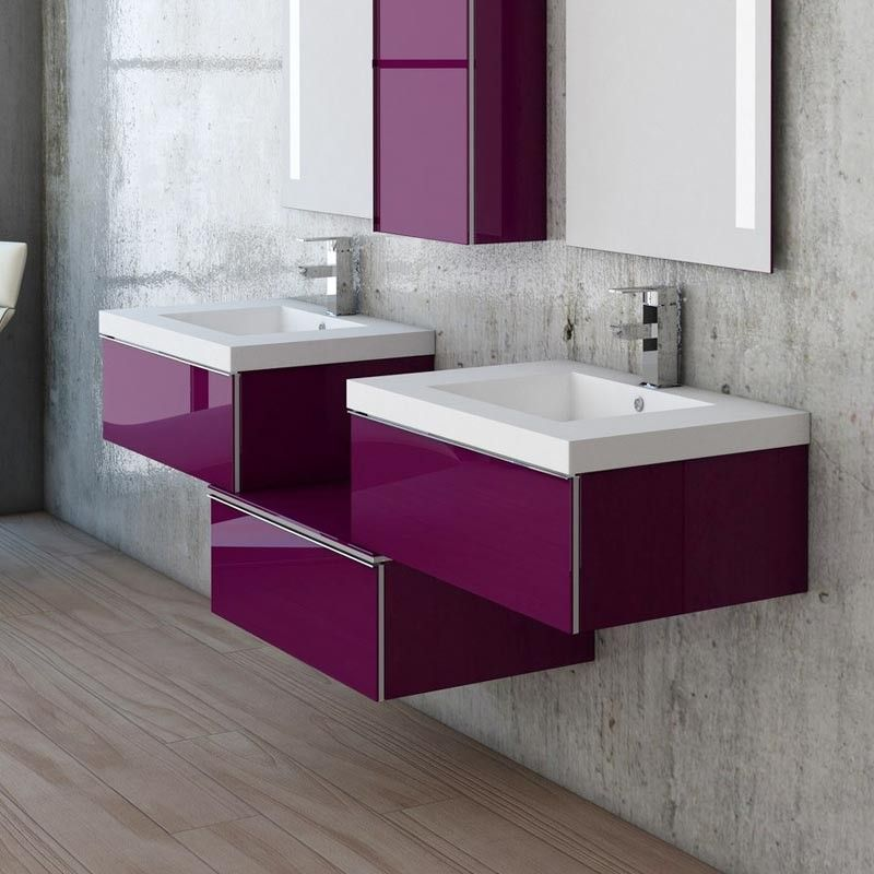 meuble salle de bain plan vasque r sine 3 tiroirs duo. Black Bedroom Furniture Sets. Home Design Ideas