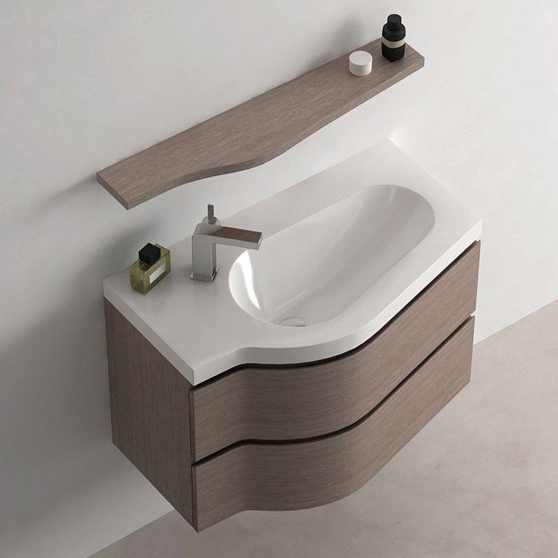 Meuble de salle de bain ch ne fonce 80 cm surf for Ou acheter meuble salle de bain