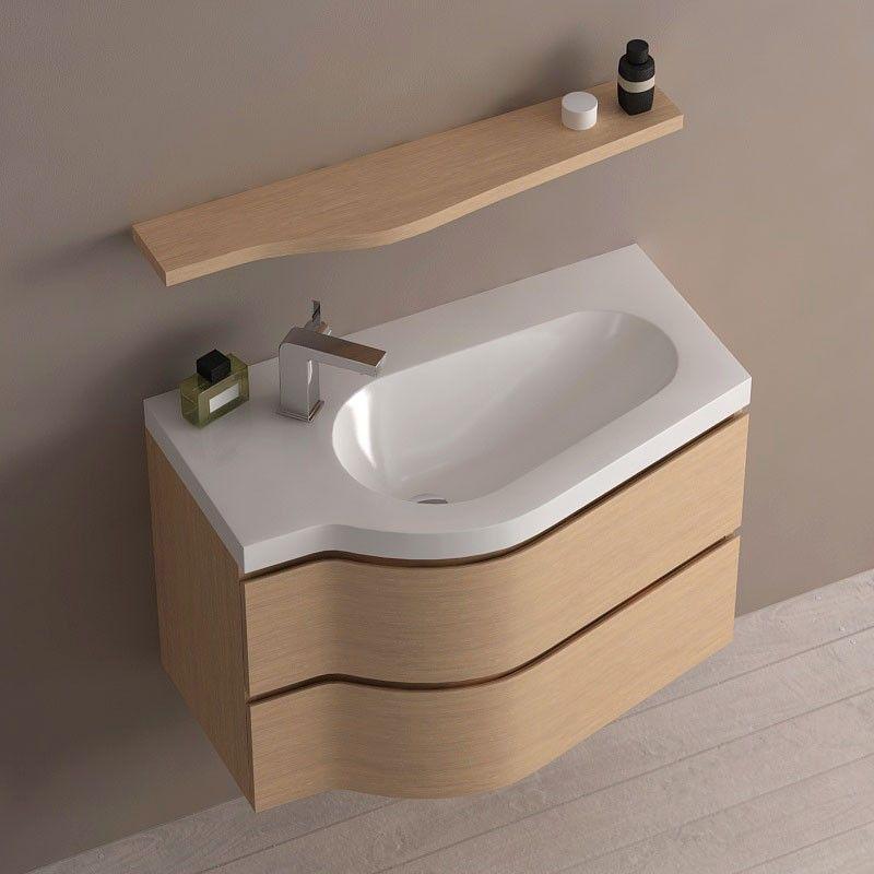 Meuble de salle de bain ch ne clair 80 cm surf for Ou acheter meuble salle de bain