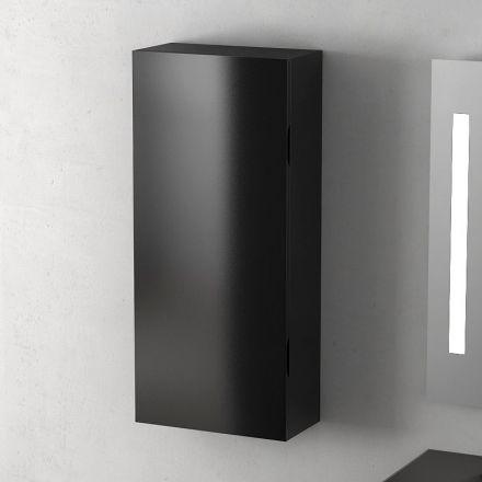 Demi colonne flex noir brillant 90x40 cm for Colonne de salle de bain 25 cm de large
