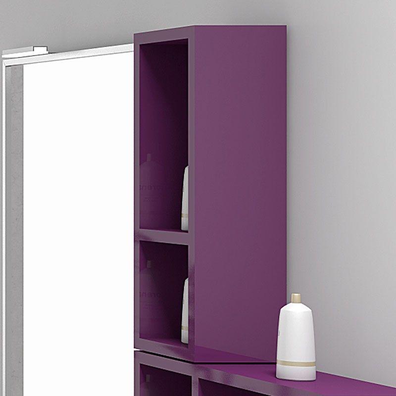 Demi colonne de rangement ouverte space 20x55 cm for Colonne salle de bain ouverte