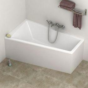 Baignoire rectangulaire 170x70 cm acrylique kasandra for Baignoire asymetrique 160x70