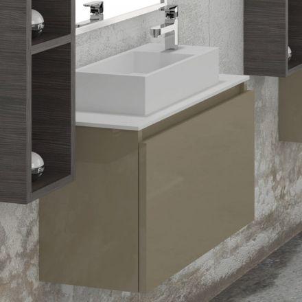 Meuble de salle de bain 70 cm space vasque solid surface for Meuble 30 cm de large