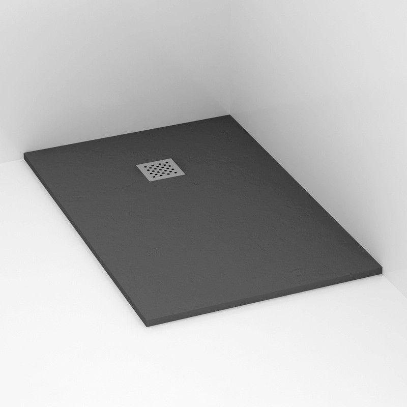 Receveur de douche 120x80 cm composite anthracite ardesia - Destockage receveur de douche ...
