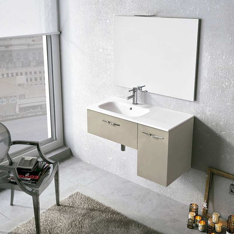 meuble salle de bain 90 cm 1 tiroir 1 porte play. Black Bedroom Furniture Sets. Home Design Ideas