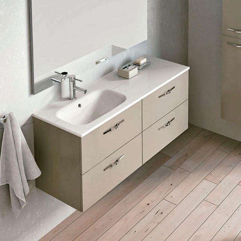 Meuble salle de bain 120 cm 4 tiroirs play for Salle de bain pratique