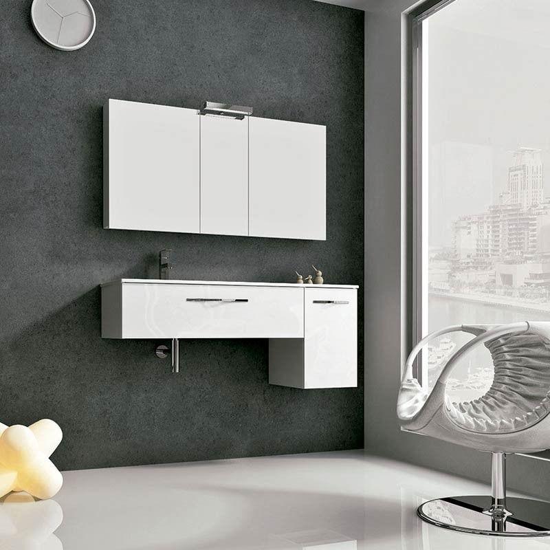 Meuble salle de bain 120 cm 1 tiroir 1 porte play for Tiroir meuble salle de bain