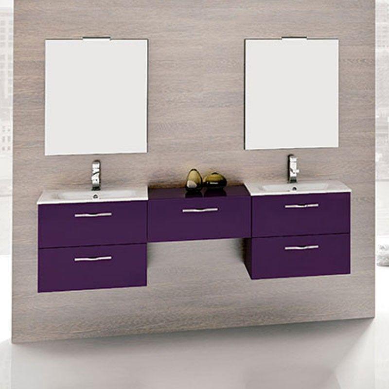 Meuble salle de bain 180 cm 5 tiroirs play for Tiroir meuble salle de bain