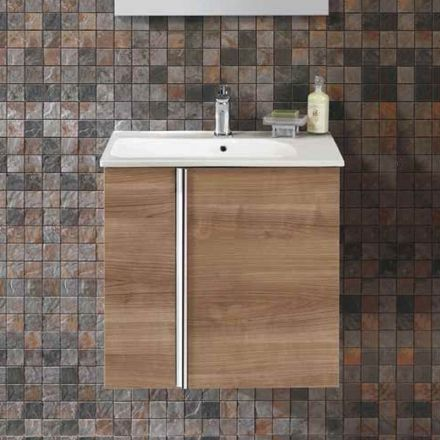 Meuble salle de bain 60 cm 2 portes plan vasque for Meuble de 60 cm de large