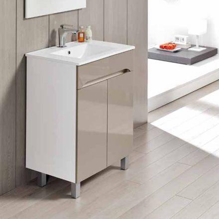 Meuble salle de bain 60 cm 2 portes benissa for Meuble 60 cm de large